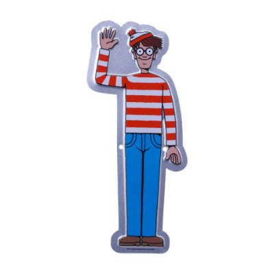 Placa Onde está Wally - Metal 22cm
