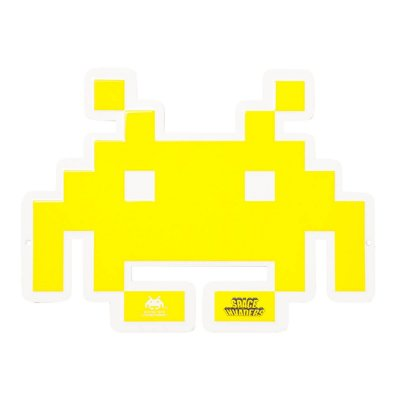 Placa Space Invaders - Metal 33cm