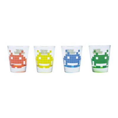 Copo Shot Space Invaders 50ml - 4 Unidades