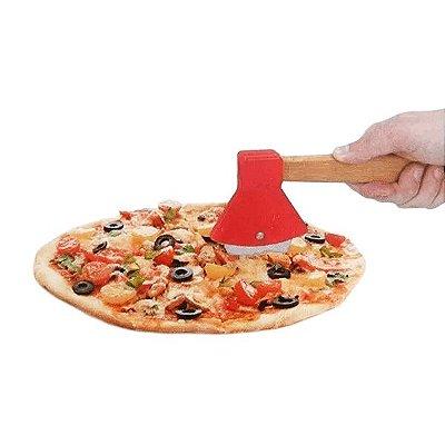 Cortador de Pizza Lenhador Machado Vermelho