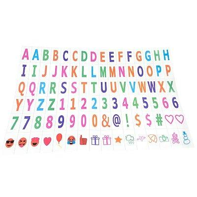 96 Letras Coloridas com Emoji para Luminária Letreiro de Cinema - Lightbox