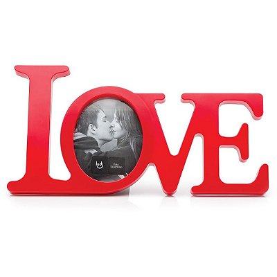 Porta-retrato Love Vermelho