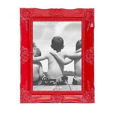 Porta-retrato Provençal Vermelho 13x18cm