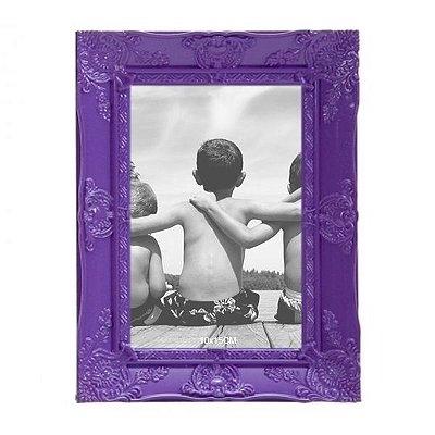 Porta-retrato Provençal Roxo 10x15cm