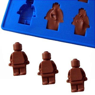 Forma de Gelo / Chocolate -  Boneco Lego