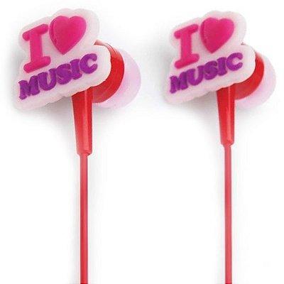 Fone de Ouvido I Love Music - Capricho