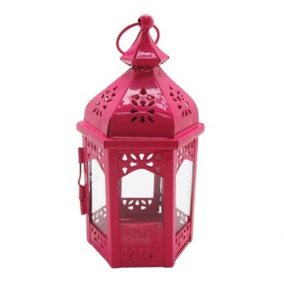 Lanterna Marroquina Rosa