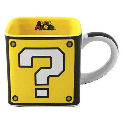 Caneca Quadrada Cubo de Interrogação - Mario Bros
