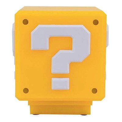 Luminária Sonora Cubo Interrogação - Mario Bros