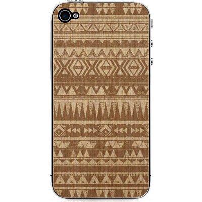 Madeira Adesiva Étnica Marfim Linheira - iPhone 4/4S