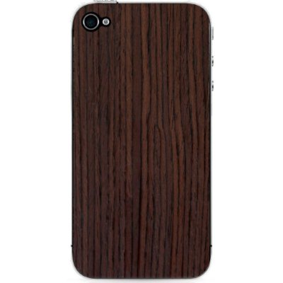 Adesivo Wood Liso Jacarandá Catedral - iPhone 4/4S