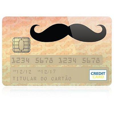 Adesivo para Cartão de Crédito - Mustache