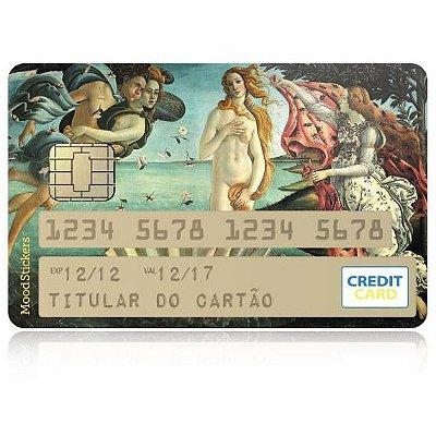 Adesivo para Cartão de Crédito - Nascimento de Vênus