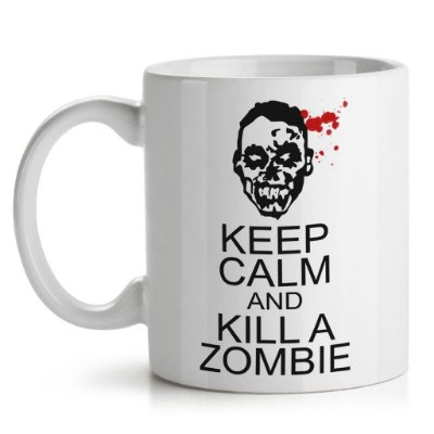 Caneca Zumbi - Keep Calm and Kill a Zombie