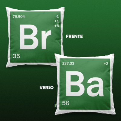 Almofada - Bromine Barium - Breaking Bad