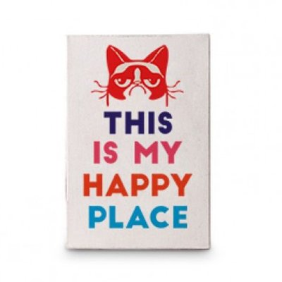 Tela Gato Happy Place 10x15cm
