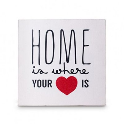Tela Home is Where 20x20cm