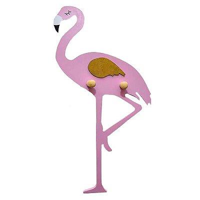 Cabideiro Gancho Flamingo Rosa Claro