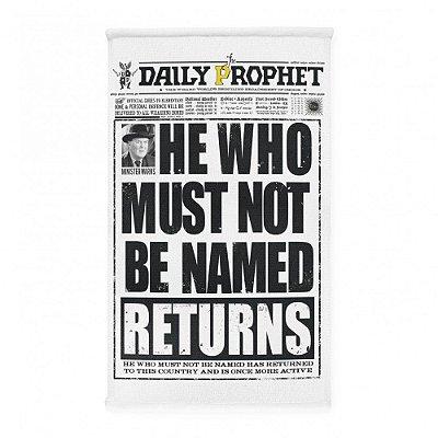 Pano de Prato Profeta Diário - Harry Potter