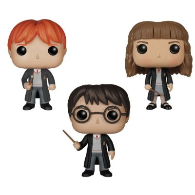 Kit Harry Potter, Ron & Hermione - Funko Pop