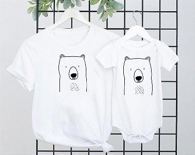 Kit camiseta + Body branco