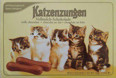 Chocolate da Alemanha Língua de Gato Katzenzungen 100g