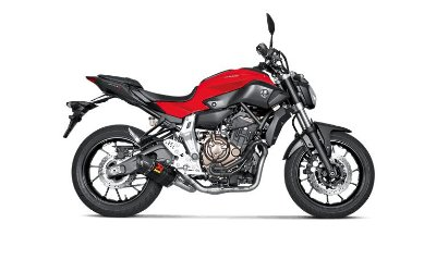 AKRAPOVIC YAMAHA MT 07 ESCAPAMENTO FULL RACING COLETOR INOX/PONTEIRA CARBONO