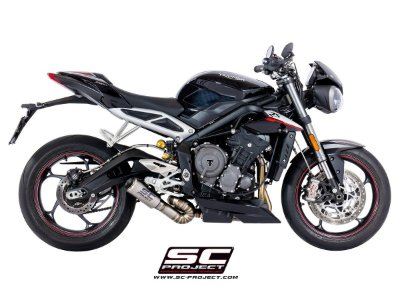 SC-PROJECT CR-T TRIUMPH STREET TRIPLE 765 TITANIUM 2017 2018
