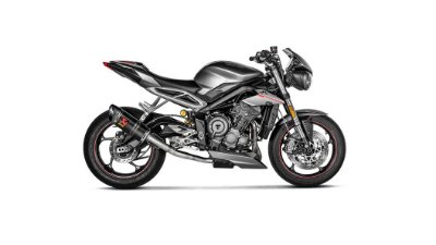 AKRAPOVIC TRIUMPH STREET TRIPLE 765 S/R/RS 2018/2019 PONTEIRA CARBONO S-T7SO2-APC