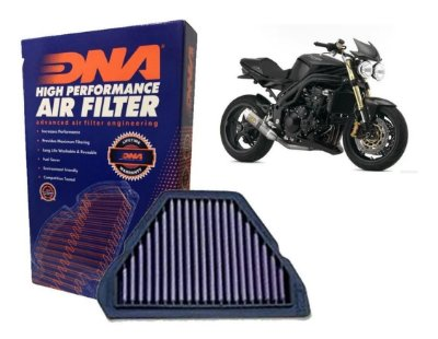 DNA TRIUMPH TIGER 1050 / SPEED TRIPLE 1050 / SPRINT 1050 FILTRO DE AR DE ALTA PERFORMANCE P-TR10S05-01