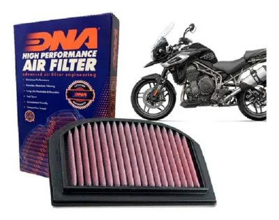 DNA TRIUMPH TIGER EXPLORER 2012 A 2020 FILTRO DE AR DE ALTA PERFORMANCE P-TR12E12-01