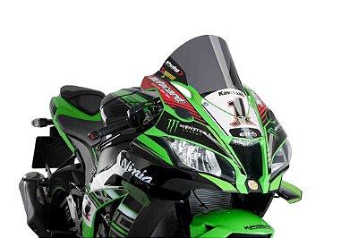 BOLHA PUIG KAWASAKI ZX10R R-RACER FUMÊ ESCURO 2017/2020 9849F