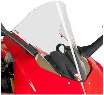 BOLHA PUIG DUCATI PANIGALE V4 2020/2021 R RACER TRANSPARENTE 3759W
