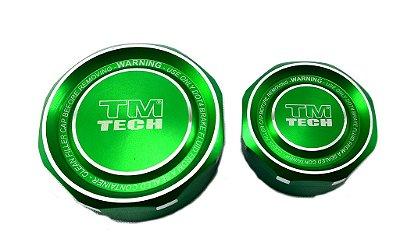 Tampa Reservatório De Óleo Tm Tech Pequena Verde
