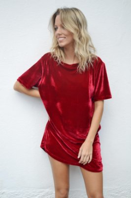 OVERSIZED T-SHIRT VALENTINA RED