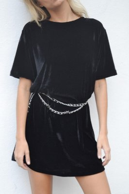 OVERSIZED T-SHIRT VALENTINA BLACK