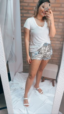 SHORTS JEANS MOEDA