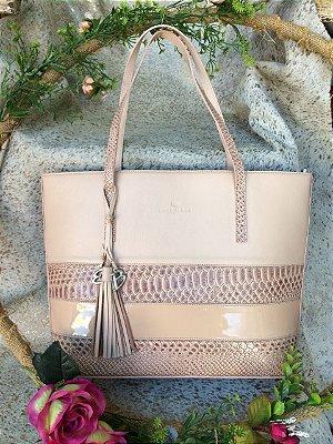 Bolsa em couro shopping bag