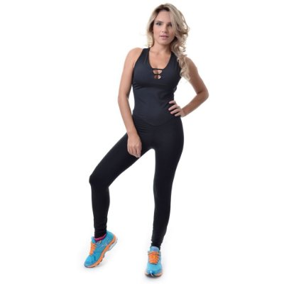 Macacão Aranha Preto Fitness Feminino - UP Fitwear