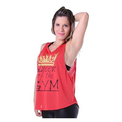 Camiseta Fitness Dry Fit Vermelha Com Estampa - Carioca Fit