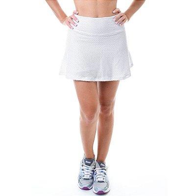 Short Saia Fitness Texturizada Impacto Branca - UP Fitwear