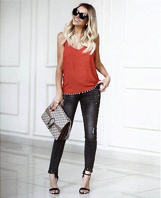 Calça Jeans Glam Black
