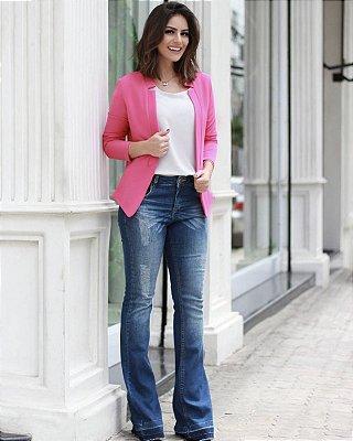 Calça Jeans Flare (possui elastano)
