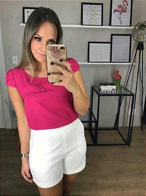 Blusa Sophia ( Cores Pink e Azul Royal).