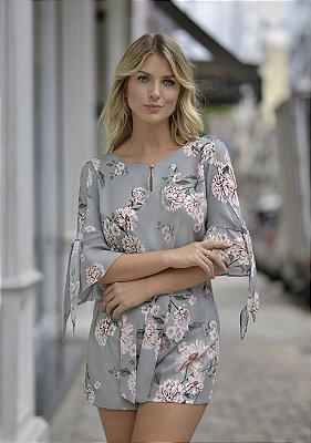 Blusa Crepe Floral Carla