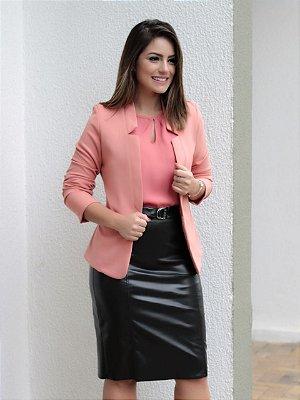 Blazer Malha Crepe - Rosê