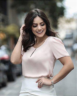 Blusa Crepe Pérolas - Mariane