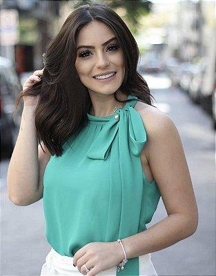 Blusa Denise ( Verde Esmeralda,Marinho, Branca e Rosê)