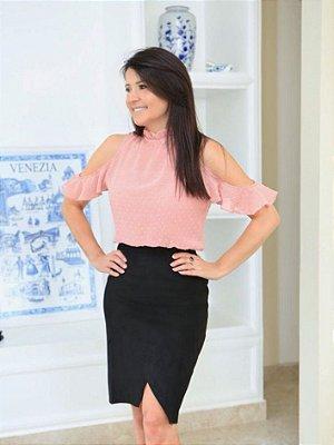 Blusa Adriana ( Rosê, Branca, Lilás e Verde Menta)
