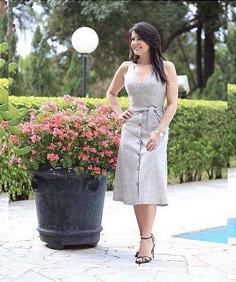 Vestido Midi em Linho